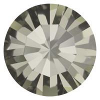 Пришивные стразы в цапах Preciosa (Чехия) ss20 Black Diamond/серебро