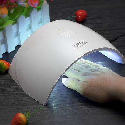 Лампа для ногтей SUN 9S, LED лампа для маникюра и педикюра гель лака БЕЛАЯ Сушилка лампа для ногтей, фото 2
