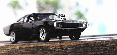 Модель автомобиля Dodge Charger из фильма Форсаж! Додж Чарджер 1:32 в подарочной упаковке, фото 2
