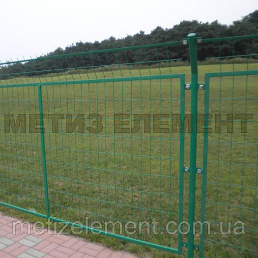 """Забор секционный """"Пром"""" H-1100 Ø-4/5 (секц. 1030х2500 яч. 200х50, ст. L-1500, кр. 3)"""