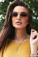 Солнцезащитные коричневые очки с двухцветными линзами (1376.4154 svt)