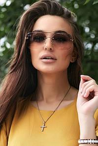 Сонцезахисні коричневі окуляри з двоколірними лінзами (1376.4154 svt)