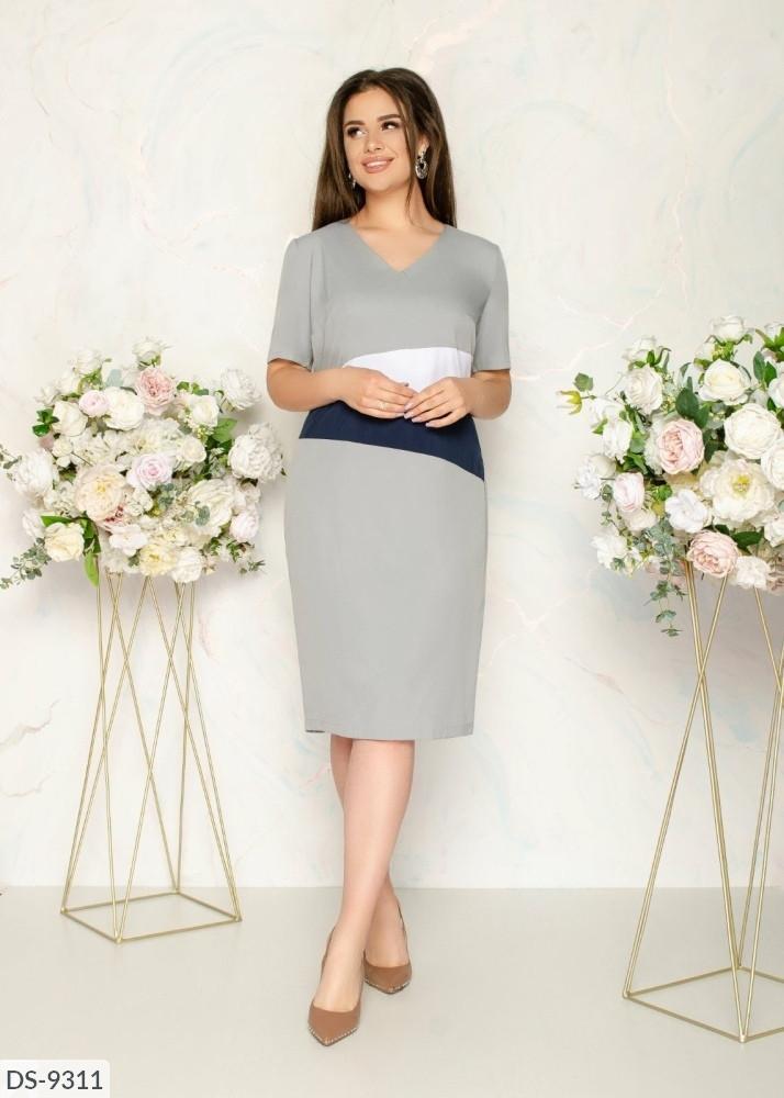 Стильное платье   (размеры 48-58) 0245-24
