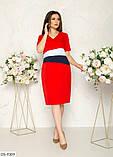Стильное платье   (размеры 48-58) 0245-24, фото 2