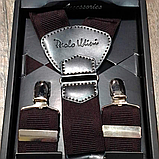 Мужские подтяжки для брюк темно-коричневого цвета, фото 2