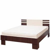 Кровать двуспальная Світ Меблів Элегия (+каркас) 160×200 лимба шоколад/клен