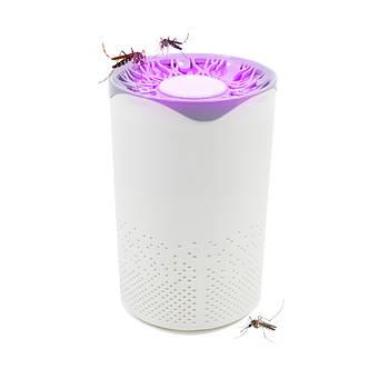 Электрический уничтожитель комаров Lesko T-0001 White ловушка от насекомых с LED подсветкой мощность 5 Вт USB