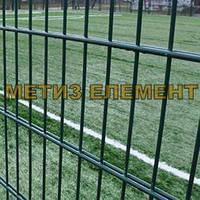 """Забор секционный """"Спорт"""" H-3000 Ø-5 (2х(1485х2500), яч. 200х50, ст. L-4000, кр. 8)"""