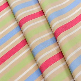 Ткань для уличных подушек в полоску Дралон Duero Розовый