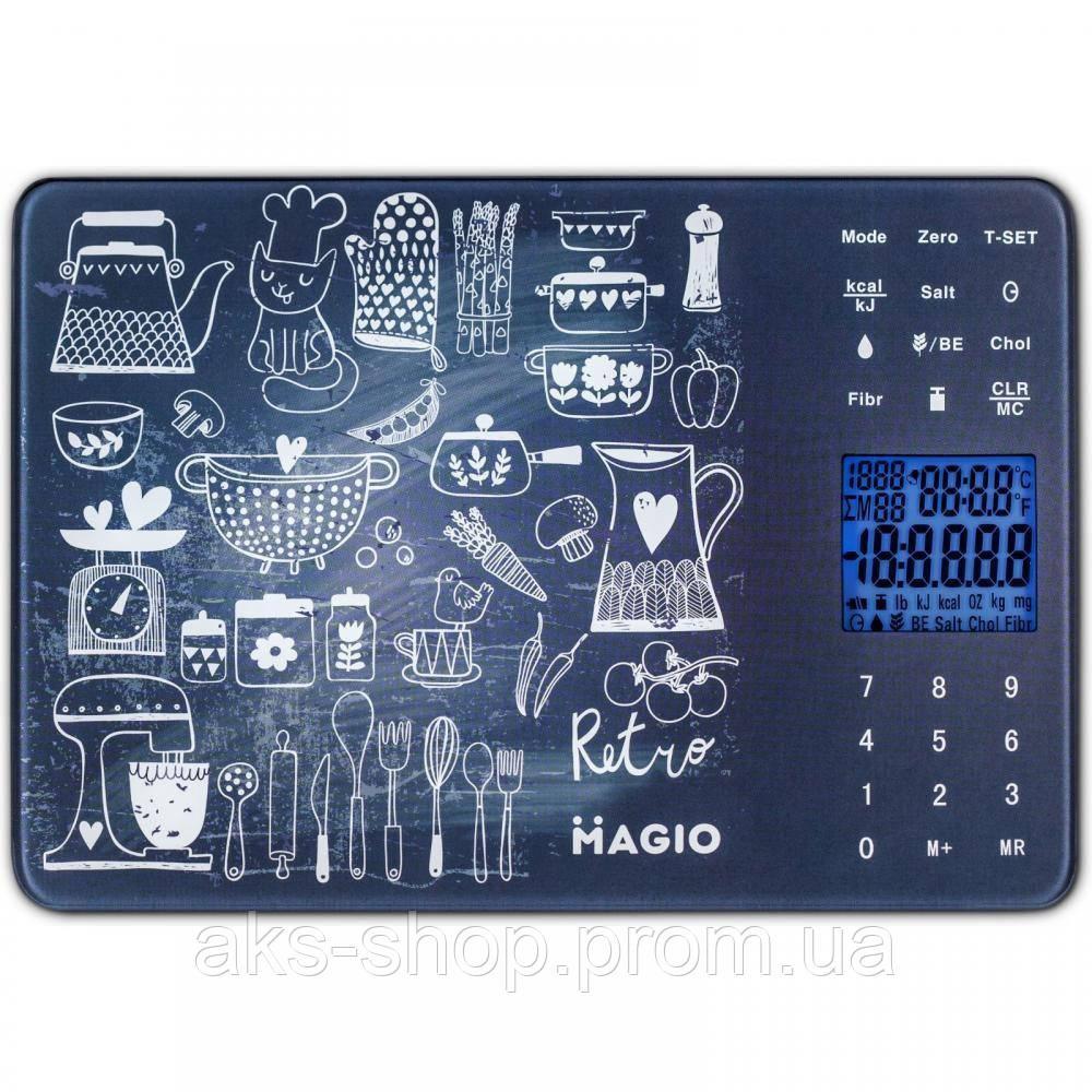 Весы кухонные электронные Magio MG-692 максимальный вес 5 кг цена деления 1 г