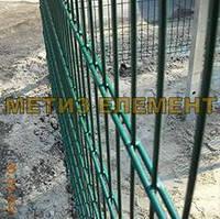 """Забор секционный """"Спорт"""" H-3000 Ø-4/5 (1030х2500+2030х2500, яч. 200х50, ст. L-4000, кр. 9)"""
