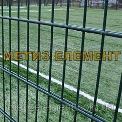 """Забор секционный """"Спорт"""" H-4000 Ø-4000 (2х(2030х2500), яч. 200х50, ст. L-5000, кр. 10)"""