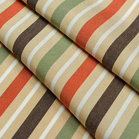 Ткань для уличных подушек в полоску Дралон Duero Коричневый