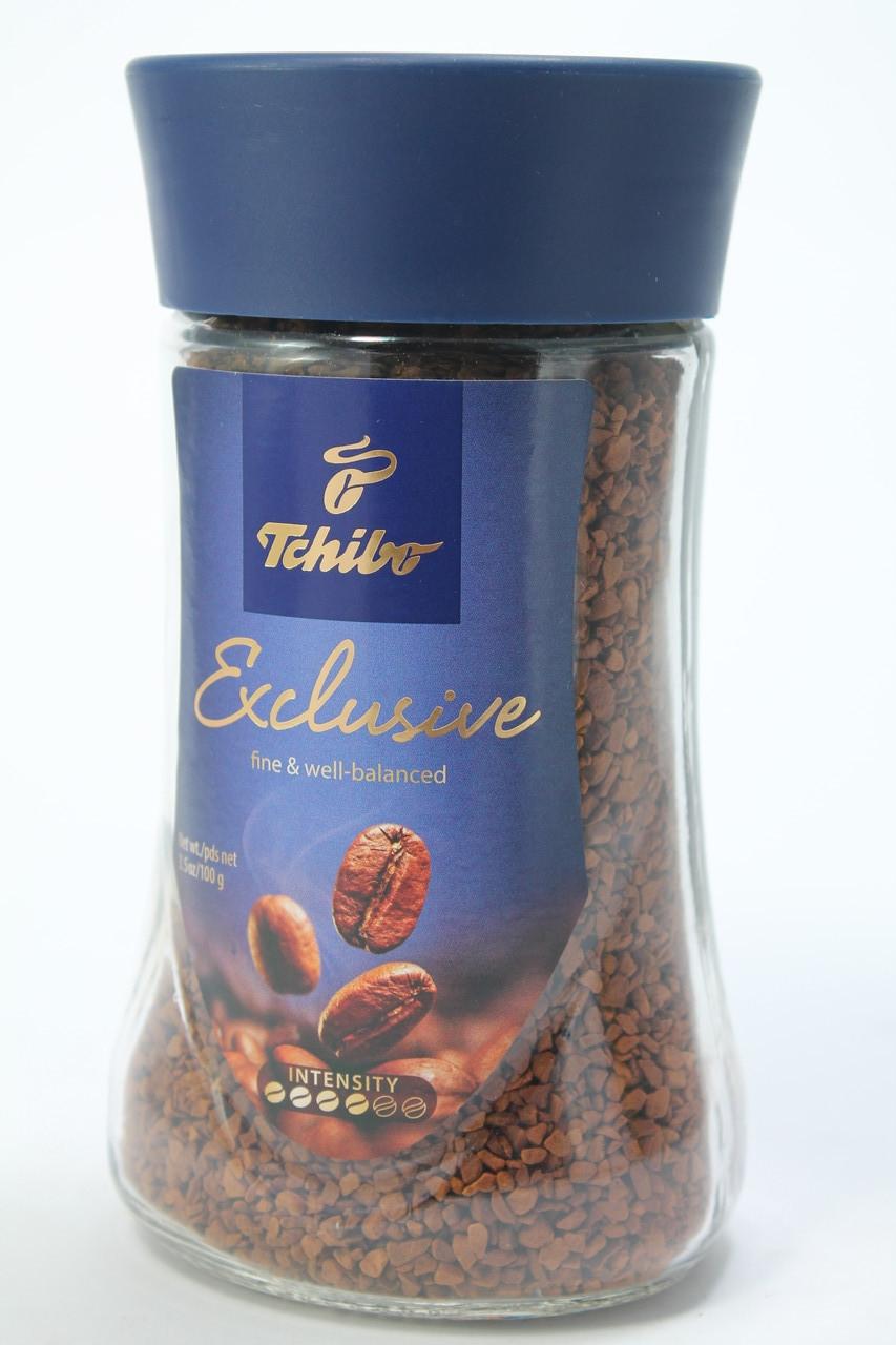 Кофе растворимый Tchibo Exclusive 100 г в стеклянной банке Германия
