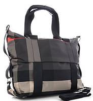 Жіноча тканинна сумка 8501 grey Тканинні сумки недорого, текстильні сумки