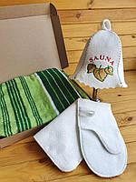 Набір в сауну + махровий кілт-рушник (на вибір)