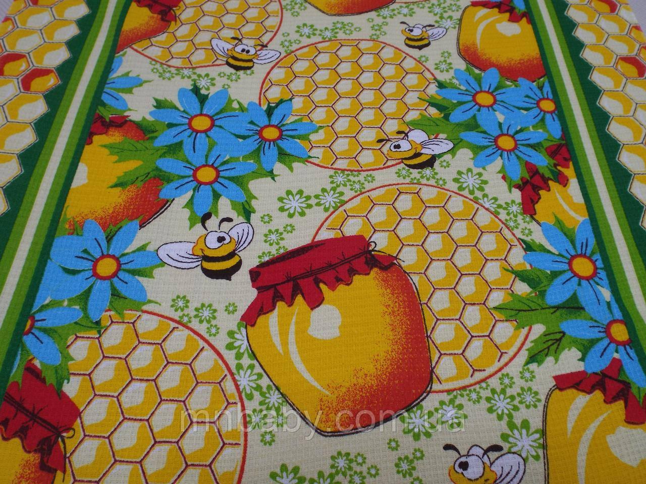 Ткань вафельная ширина 50 см Пчелки