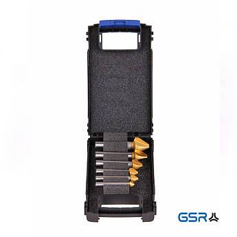 Набір зенкерів CBN DIN335 C/90° HSSG-TiN 6,3-20,5мм  GSR Німеччина