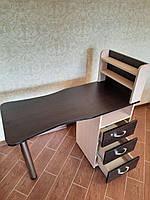 Маникюрный раскладной стол с полками и ящиками Стандарт (комби)