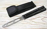Нож бабочка тренировочный Benchmade, скелет, фото 2