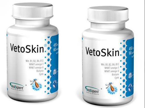 VetExpert VetoSkin ВетоСкін здоров'я шкіри та шерсті ,60 кап
