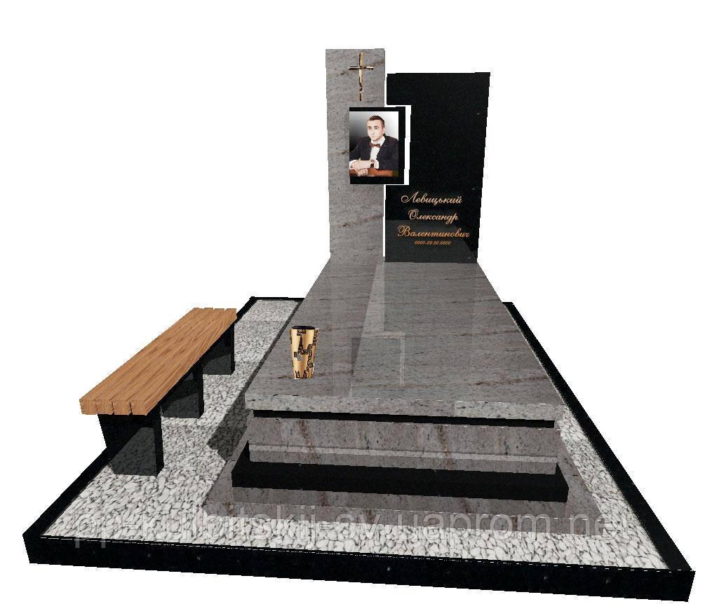 Елітний пам'ятник гранітний одинарний  N3717