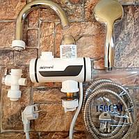 Проточный водонагреватель Delimano, душ экран, бойлер - нижние подключение (Живые фото)