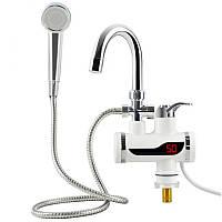 [ОРИГИНАЛ] Проточный водонагреватель Delimano с душем - нижнее подключение (бойлер, горячая вода)