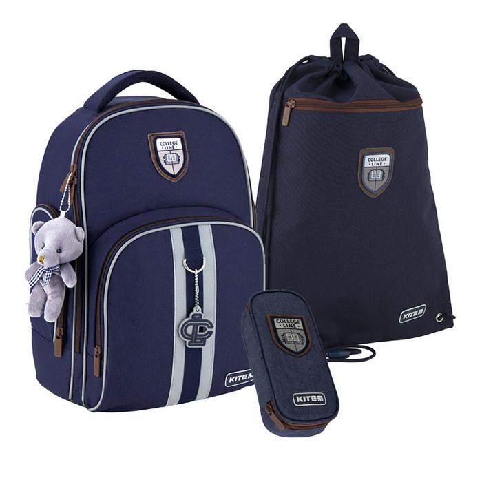 Набор рюкзак + пенал + сумка для обуви Kite 706M-2 College