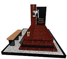 Пам'ятник надгробний гранітний одинарний Елітний N3718