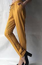 Летние брюки из льна жатки №23 БАТАЛ песок, фото 3