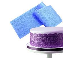 """Молд кондитерский для тортов """"Кружево"""" - размер молда 40*10см, силикон"""