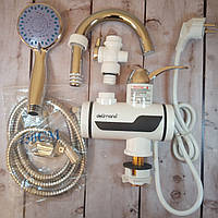 [ОРИГИНАЛ] Проточный водонагреватель Delimano с душем, подключение нижнее \ с низу (бойлер, горячая вода)