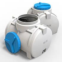 Пластикова горизонтальна ємність для води 150 л стандартна, фото 2