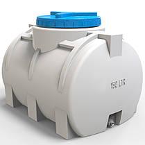 Пластикова горизонтальна ємність для води 150 л стандартна, фото 3