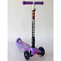 Самокат складной Scooter для девочки с принцессами