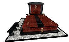 Пам'ятник надгробний гранітний подвійний  N7114