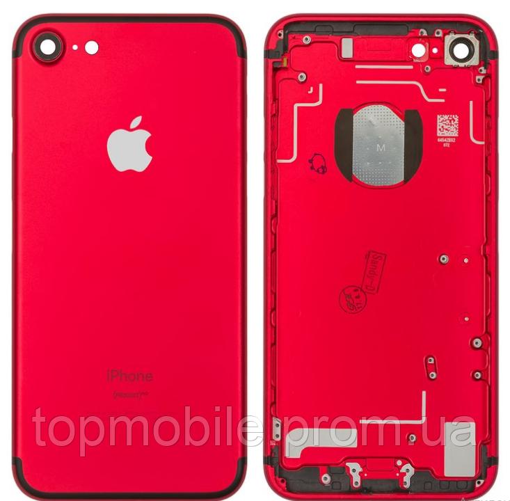 Корпус для iPhone 7, красный, копия высокого качества
