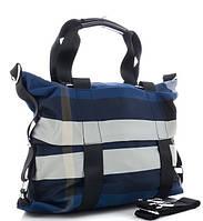 Жіноча тканинна сумка 8501 blue Тканинні сумки недорого, текстильні сумки
