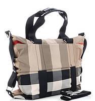 Жіноча тканинна сумка 8501 beige Тканинні сумки недорого, текстильні сумки