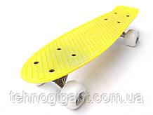 Скейт Penny Board mini, Пенни борд мини, для самых маленьких, от 2 лет, Цвет Желтый