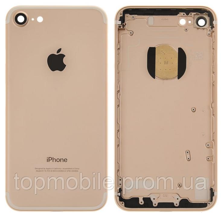 Корпус для iPhone 7, розовое золото, копия высокого качества