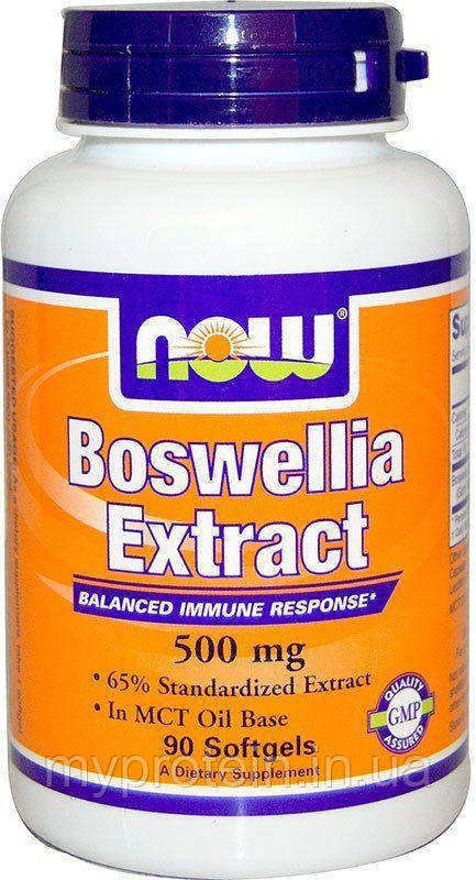 NOW	Экстракт босвеллии	Boswellia extract 500 mg	90 softgels