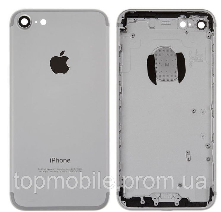 Корпус для iPhone 7, серебристый, оригинал (Китай)