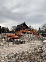 Кирпичный бой кирпича и бетона