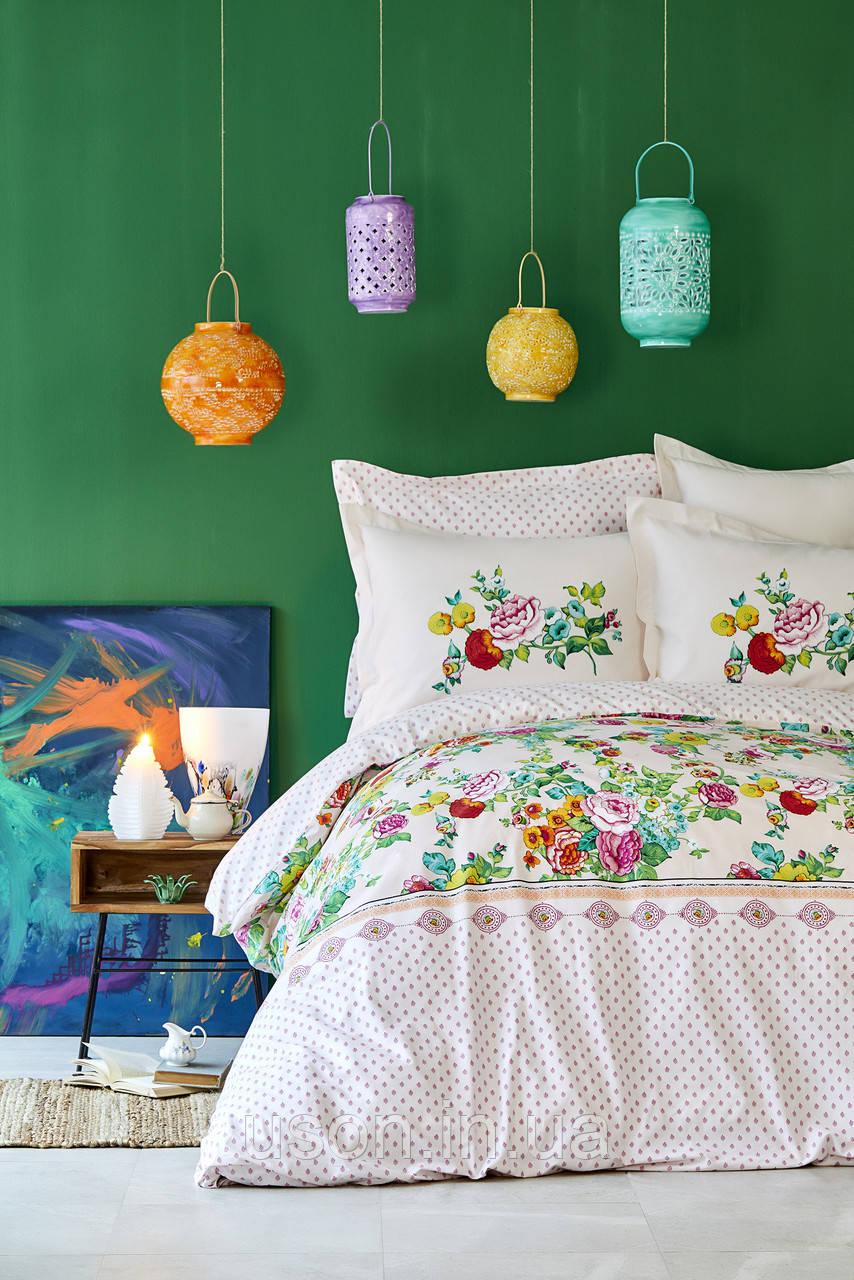 Комплект постельного белья с покрывалом Pike TM Karaca Home Irini Fuşya