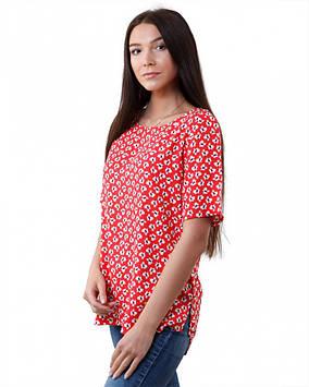 Вискозная женская футболка батальная (размеры XS-3XL)