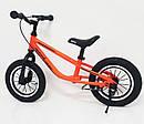 Беговел детский 16 дюймов BRN-B216-1 оранжевый  собранный на 85%, фото 2