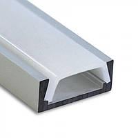 Профиль алюм. накладной Feron CAB262 анод. с рассеивателем для LED ленты 2м серебро 4338