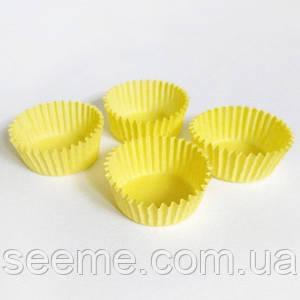 Бумажная тарталетка, 30*16 мм, цвет желтый, 20 шт